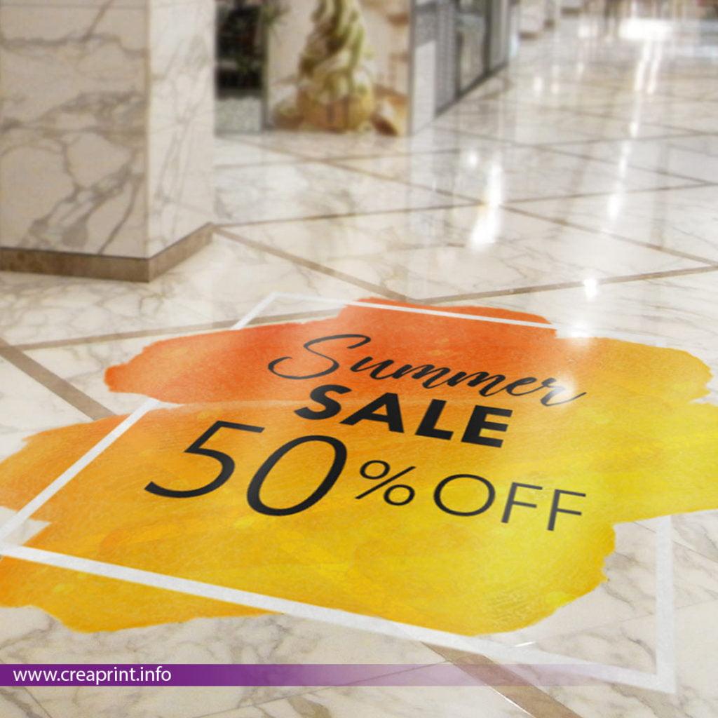 floor advertising