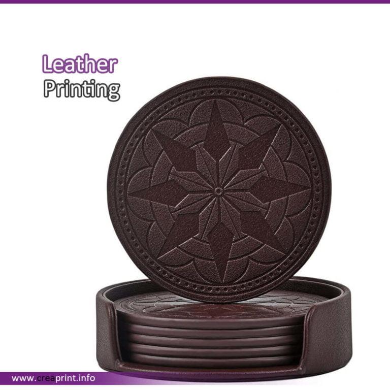 Leather Coaster Design PU