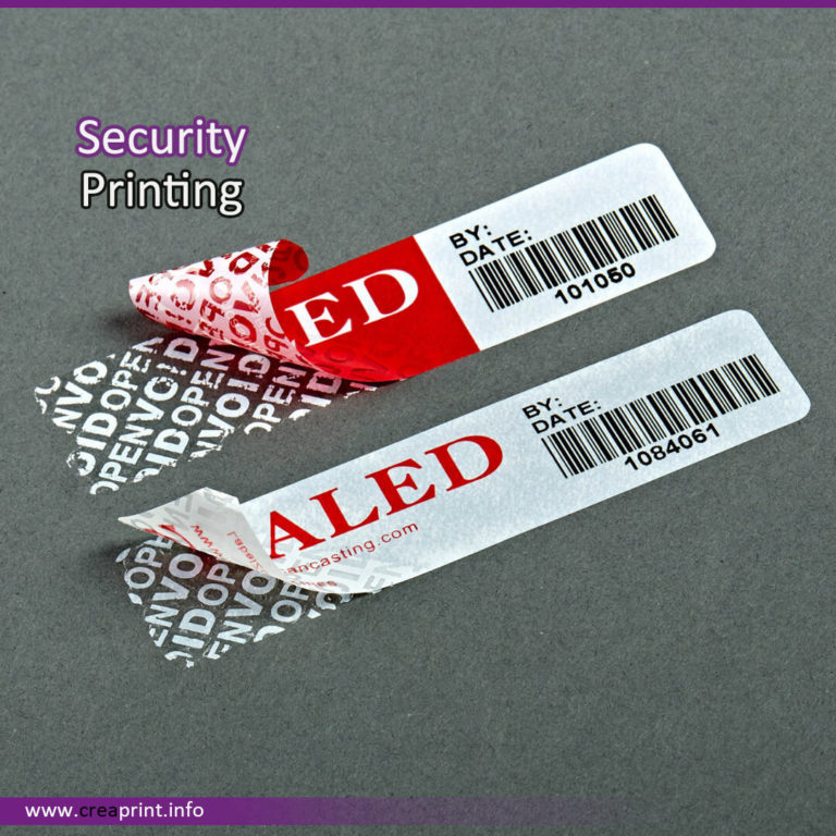 Security Seal Print