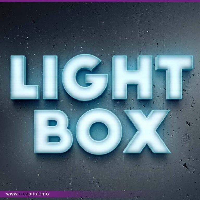 Wall Lightbox