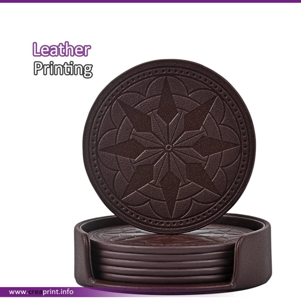 Leather Coaster Design 1